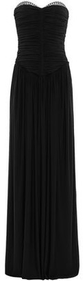 Alexander Wang Eyelet-embellished Ruched Jersey Gown