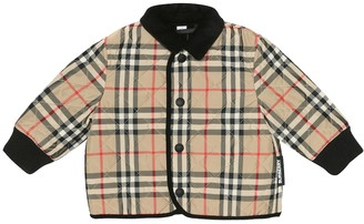 BURBERRY KIDS Baby checked quilted jacket