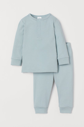 H&M Ribbed Cotton Pajamas