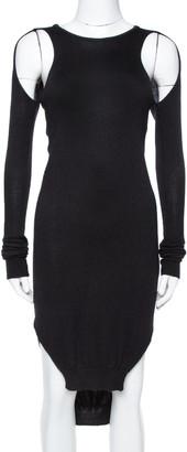 Just Cavalli Black Knit Cut-Out Detail Long Sleeve Dress XS