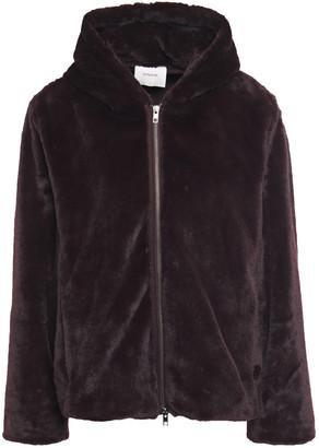 Vince Faux Fur Hooded Jacket