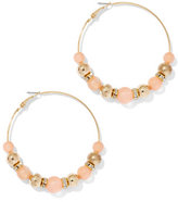 New York & Co. Beaded Goldtone Hoop Earring