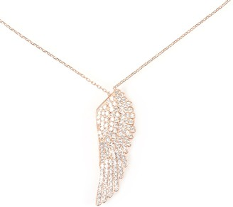 Latelita Large Angel Wing Necklace - Rose Gold