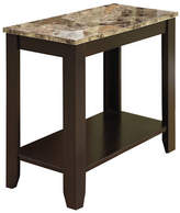 Monarch Marble-Look Accent Table with Shelf