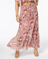American Rag Juniors' Printed Ruffle-Hem Maxi Skirt, Created for Macy's