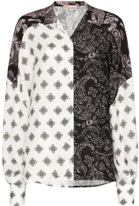 Esteban Cortazar Panelled Paisley-Print Shirt