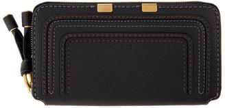 Chloé Black Long Marcie Wallet