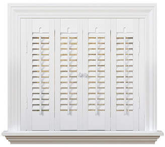 """Traditional Faux Wood Interior Shutter, 27-29"""" W x 20"""""""
