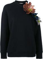 Christopher Kane cut out flower sweatshirt - women - Cotton - 38