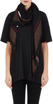 Givenchy Women's Rottweiler-Graphic Wool Voile Shawl-BLACK, IVORY