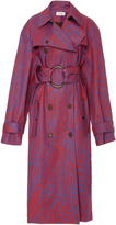 Diane von Furstenberg Long Sleeve Belted Trench Coat