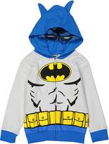 Children's Apparel Network Gray Batman Knit Hooded Jacket - Toddler