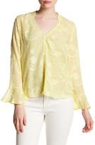Jenn Clothing Textured Ruffle Sleeves Blouse