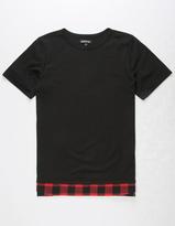 Elwood Plaid Hem Boys T-Shirt