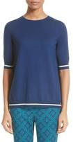 St. John Women's Sarita Tile Print Jersey Knit Sweater