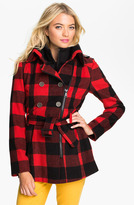 Buffalo by David Bitton Asymmetrical Plaid Coat