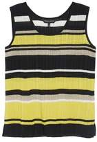 Ming Wang Stripe Ribbed Knit Tank