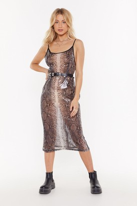 Nasty Gal Snake 'Em an Offer Sequin Snake Midi Dress