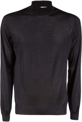 Malo High-neck Ribbed Sweater
