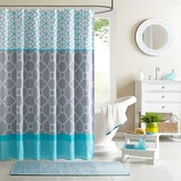 Nobrand No Brand Sarah Printed Microfiber Shower Curtain - Blue