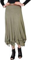 KRISP Belted Gypsy Skirt (6521-NVY-16)