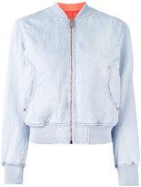 Diesel reversible bomber jacket - women - Cotton/Linen/Flax/Polyester/Spandex/Elastane - L