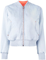Diesel reversible bomber jacket - women - Cotton/Linen/Flax/Polyester/Spandex/Elastane - M