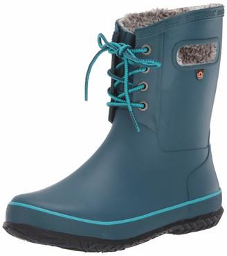 Bogs Kid's Amanda Plush Lace Insulated Winter Waterproof Rain Snow Boot