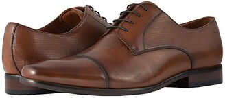 Florsheim Postino Cap Toe Oxford (Black Smooth/Perf) Men's Lace Up Cap Toe Shoes