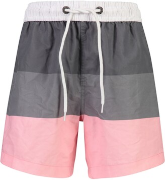 Snapper Rock Salmon Stripe Swim Trunks