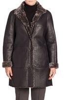 Basler, Plus Size Reversible Shearling Coat