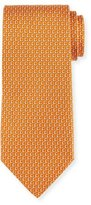 Salvatore Ferragamo Desiderio Gancio Silk Tie, Orange