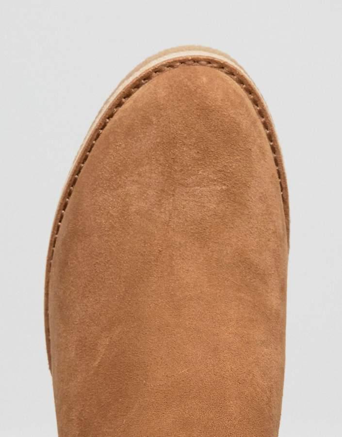 UGG Kasen Tall Heeled Knee Boots Chestnut