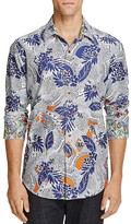 Robert Graham Coy Floral Print Classic Fit Button-Down Shirt