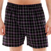 JCPenney Stafford Plaid Knit Cotton Boxers