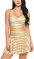 Avidlove Women's One Pieces Swimsuits Striped Slim Swimwear Padded Swim Dress Sexy Bikinis L