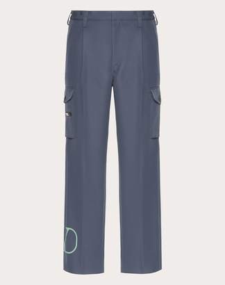 Valentino Vlogo Cargo Pants Man Light Blue Polyester 100% 50