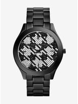 Michael Kors Runway Black Houndstooth Watch