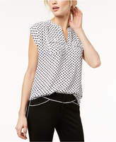 INC International Concepts I.n.c. Cap-Sleeve Utility-Pocket Top, Created for Macy's