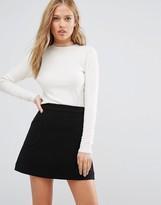 Vila Mesh Trim Long Sleeve Sweater