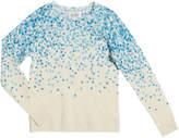 Autumn Cashmere Confetti-Print Crewneck Sweater, Size 8-16