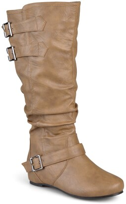 Journee Collection Tiffany Slouchy Riding Boot - Wide Calf