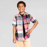 Cat & Jack Boys' Short Sleeve Woven Button Down Shirt Cat & Jack - Pink