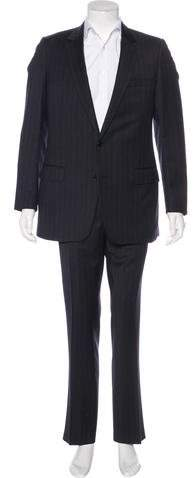 Christian Dior 2006 Striped Wool Suit