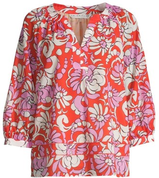 Trina Turk Light Hearted Printed Top