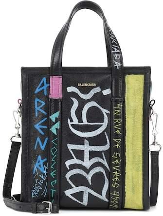 Balenciaga Bazar XS printed leather shopper