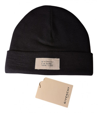 Givenchy Navy Wool Hats & pull on hats
