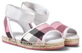 Burberry Rose Pink Check Livvy Espadrille Sandals