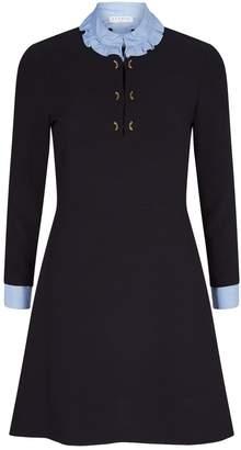 Sandro Ruffle-Trim Shirt Dress