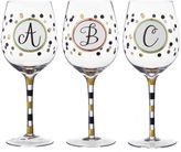 "Bed Bath & Beyond Monogram Letter ""E"" Wine Glass"